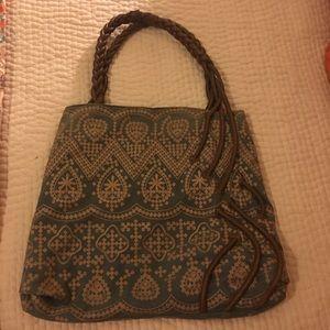 Anthropologie: Embroidered Shoulder Bag